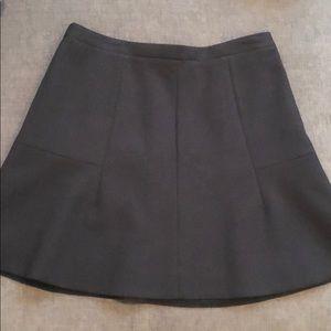Black J.Crew flared suit skirt